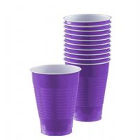 Purple Plastic Cups (10)
